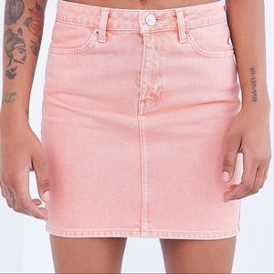 peach/pink colored urban outfitters skirt